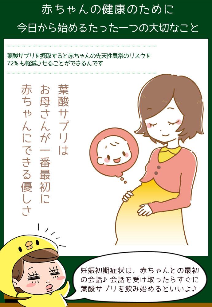 葉酸サプリはお母さんが一番最初に 赤ちゃんにできる優しさ