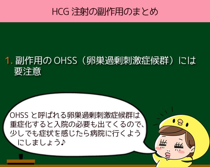HCG注射は副作用のOHSS(卵巣過剰刺激症候群)には要注意