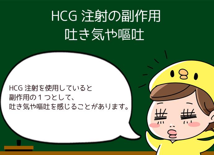 HCG注射の副作用で起こる吐き気や嘔吐