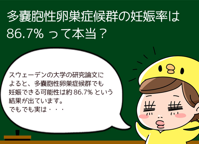 多嚢胞性卵巣症候群の妊娠率は86.7%?確率は決して低くないように見えるけど・・・