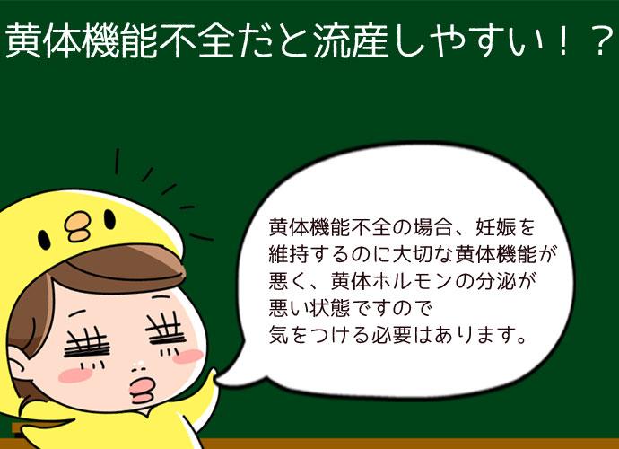 黄体機能不全だと流産しやすい!?