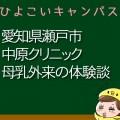 愛知県瀬戸市中原クリニックの母乳外来、母乳相談室口コミ