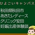 秋田県秋田市あきたレディースクリニック安田の産婦人科での妊娠出産口コミ