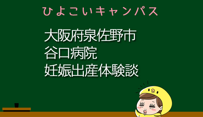 大阪府泉佐野市谷口病院の産婦人科での妊娠出産口コミ