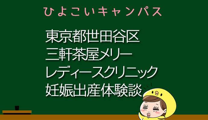 東京都世田谷区三軒茶屋メリーレディースクリニックの産婦人科での妊娠出産口コミ