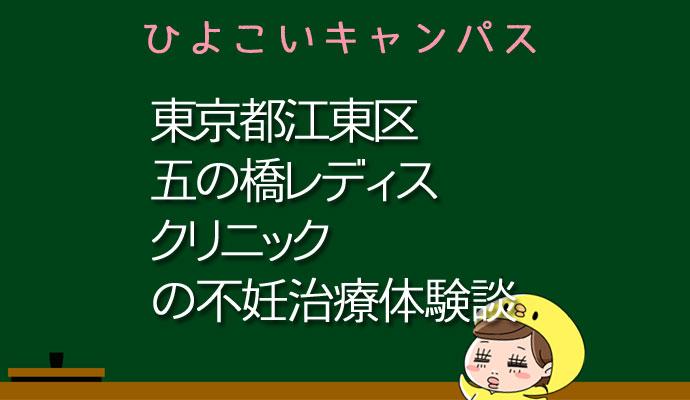 東京都江東区五の橋レディスクリニックの不妊治療、不妊外来口コミ