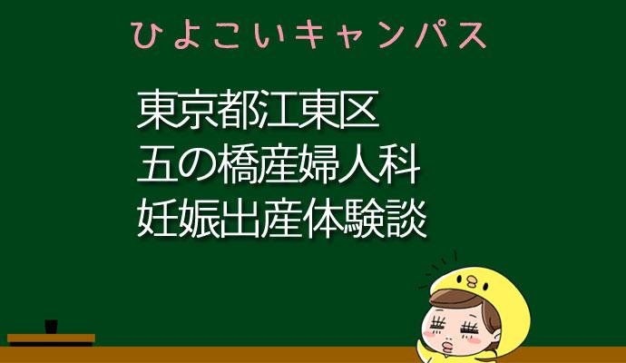 東京都江東区五の橋産婦人科の産婦人科での妊娠出産口コミ