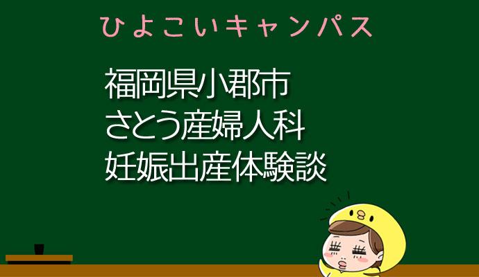 福岡県小郡市さとう産婦人科の産婦人科での妊娠出産口コミ