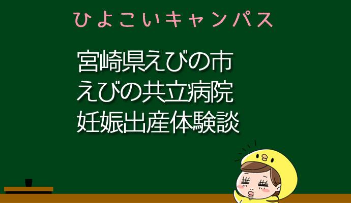宮崎県えびの市えびの共立病院の産婦人科での妊娠出産口コミ