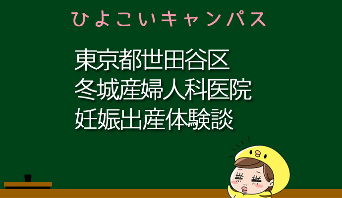 東京都世田谷区冬城産婦人科医院の産婦人科での妊娠出産口コミ