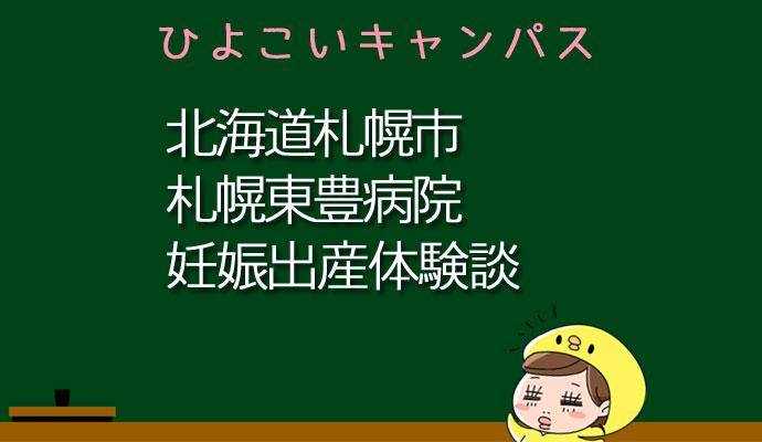 北海道札幌市札幌東豊病院の産婦人科での妊娠出産口コミ