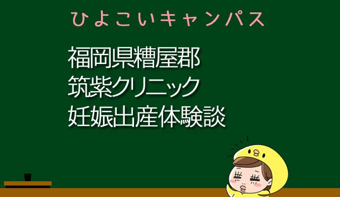 福岡県糟屋郡筑紫クリニックの産婦人科での妊娠出産口コミ