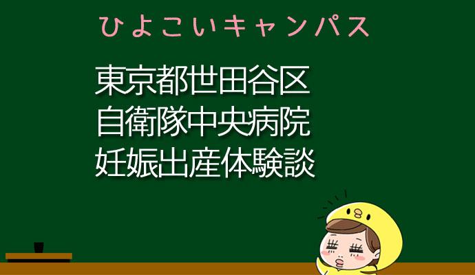 東京都世田谷区自衛隊中央病院の産婦人科での妊娠出産口コミ