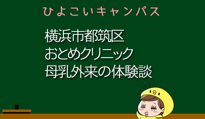 神奈川県横浜市おとめクリニックの母乳外来、母乳相談室口コミ